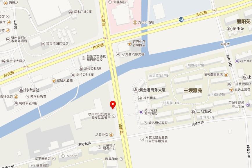 杭州上牌地点车辆管理所大楼