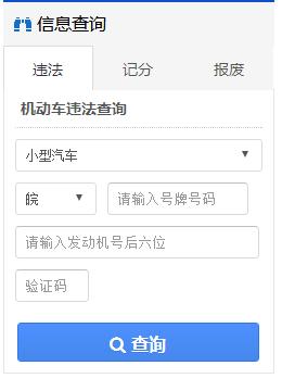 安徽交通网违章查询网址