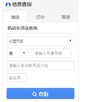 河南交警网违章查询