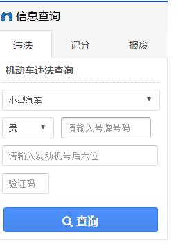 贵州交通网违章查询