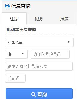 金华交通网违章查询