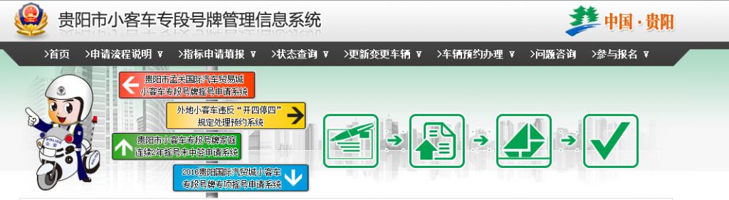 贵阳小客车专段号牌管理信息系统