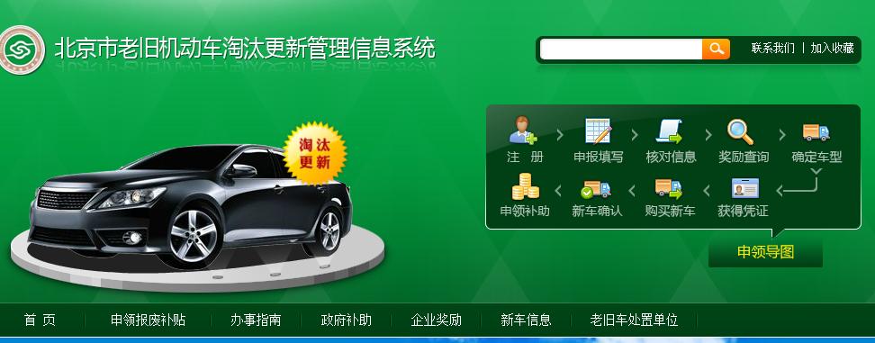 北京市老旧机动车淘汰更新管理信息系统