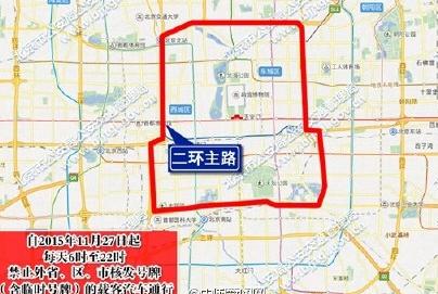 长安街限行路段